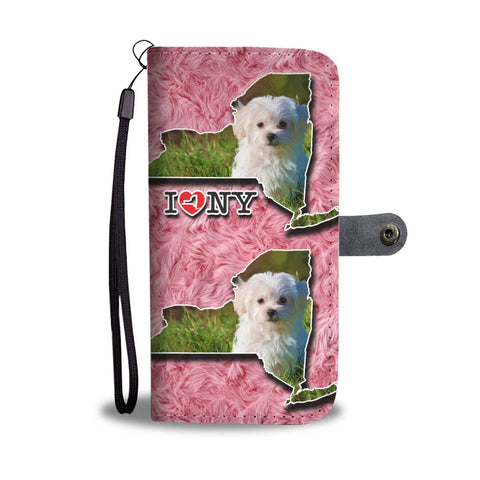 Cute Maltese Dog Print Wallet Case-Free Shipping-NY State