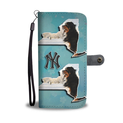Bernese Mountain Dog Print Wallet Case-Free Shipping-NY State