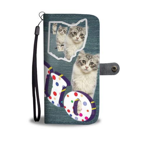 American Curl Cat 3D Print Wallet Case-Free Shipping-OH State