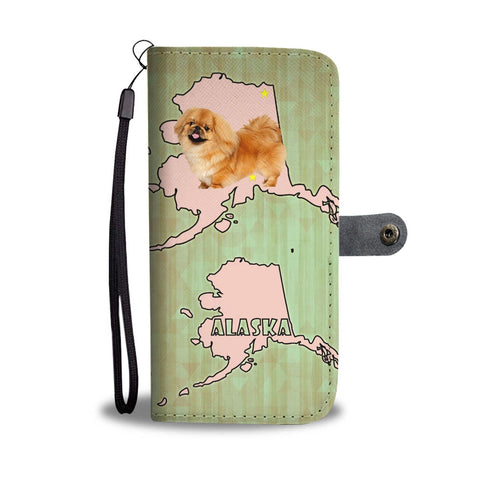 Cute Pekingese Dog Print Wallet Case-Free Shipping-AK State