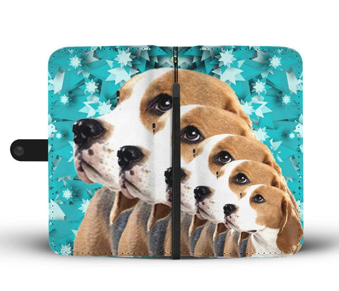 Cute Beagle Dog 3D Christmas Print Wallet Case-Free Shipping