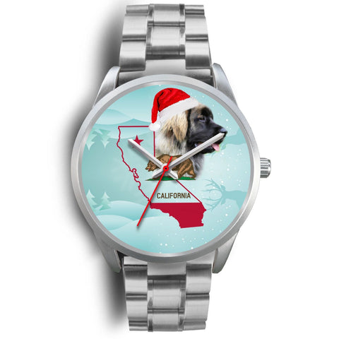 Leonberger Dog California Christmas Special Wrist Watch-Free Shipping