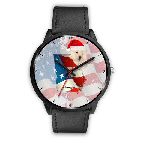 Chow Chow Dog Georgia Christmas Special Wrist Watch-Free Shipping