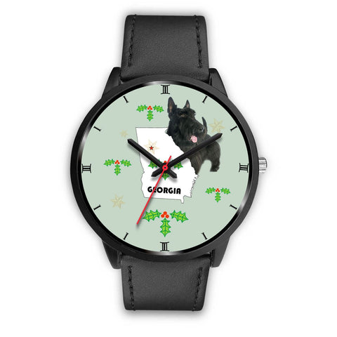 Scottish Terrier Georgia Christmas Special Wrist Watch-Free Shipping