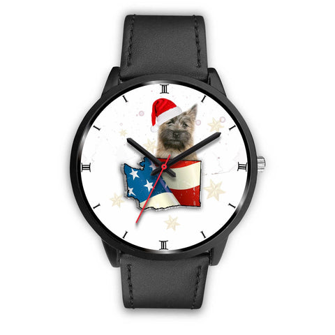 Cairn Terrier Washington Christmas Special Wrist Watch-Free Shipping