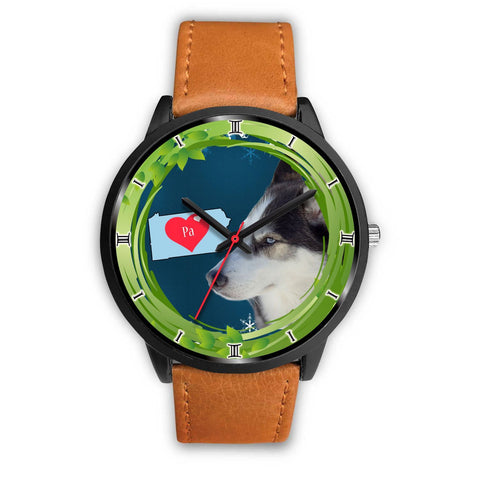 Lovely Siberian Husky Dog Pennsylvania Christmas Special Wrist Watch-Free Shipping