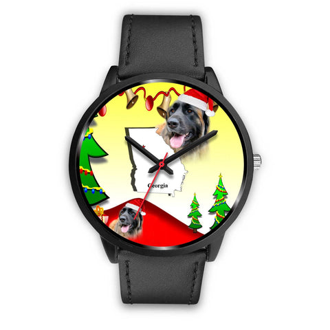 Leonberger Dog Georgia Christmas Special Wrist Watch-Free Shipping
