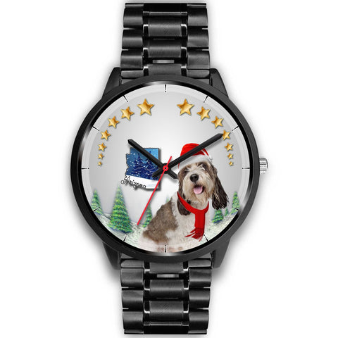 Petit Basset Griffon Vendéen Arizona Christmas Special Wrist Watch-Free Shipping