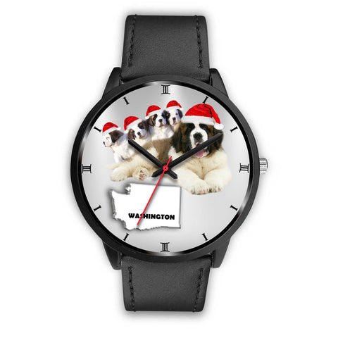 Saint Bernard Washington Christmas Special Wrist Watch-Free Shipping