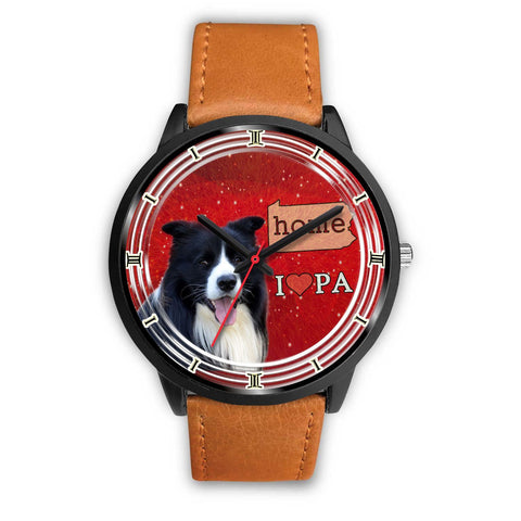 Amazing Border Collie Dog Pennsylvania Christmas Special Wrist Watch-Free Shipping