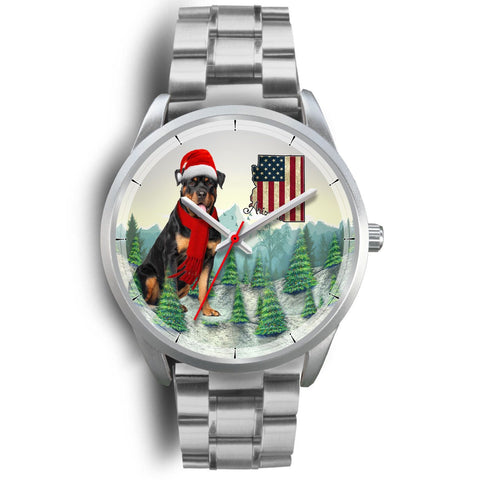 Rottweiler Dog Arizona Christmas Special Wrist Watch-Free Shipping