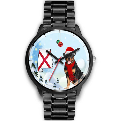 Rottweiler Dog Alabama Christmas Special Wrist Watch-Free Shipping