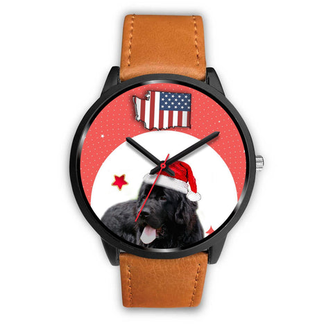 Newfoundland Dog Washington Christmas Special Wrist Watch-Free Shipping