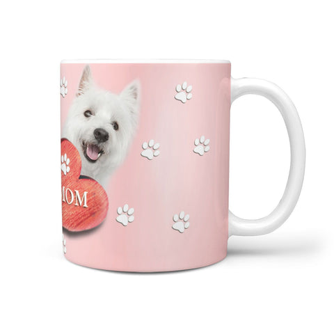 Cute Westie MOM Print 360 White Mug