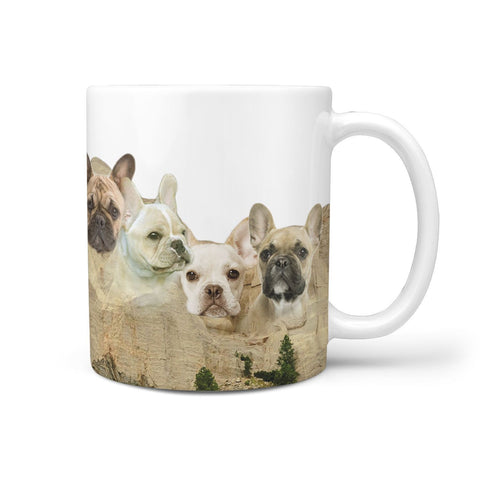 French Bulldog Print 360 White Mug