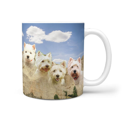 West Highland White Terrier Rushmore Print 360 Mug