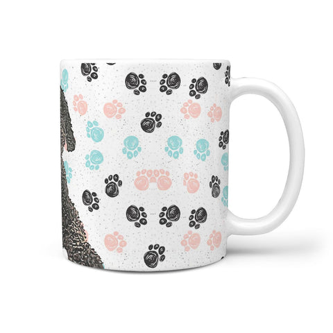 Spanish Water Dog Print 360 White Mug