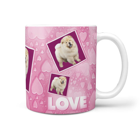 Chow Chow Dog Love Print 360 White Mug