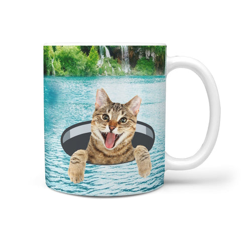 Cute Bangle Cat Print 360 Mug