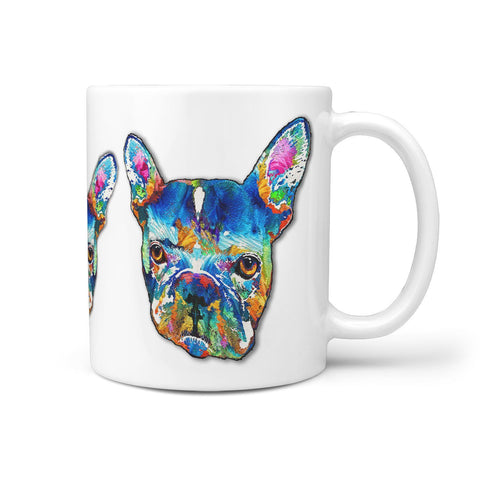 French Bulldog Multicolor Print 360 Mug