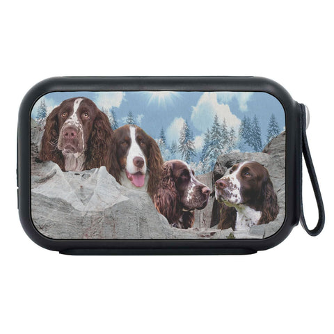 English Springer Spaniel Dog On Mount Rushmore Print Bluetooth Speaker