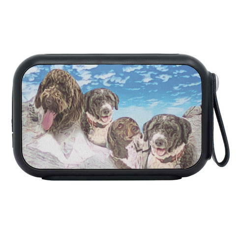 Spanish Water Dog Mount Rushmore Print Bluetooth Speaker