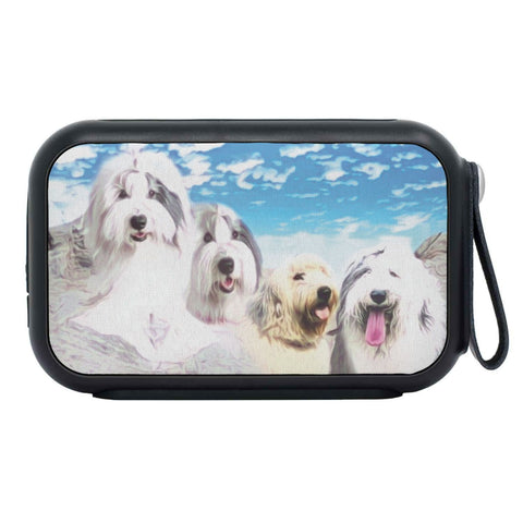 Old English Sheepdog Mount Rushmore Print Bluetooth Speaker