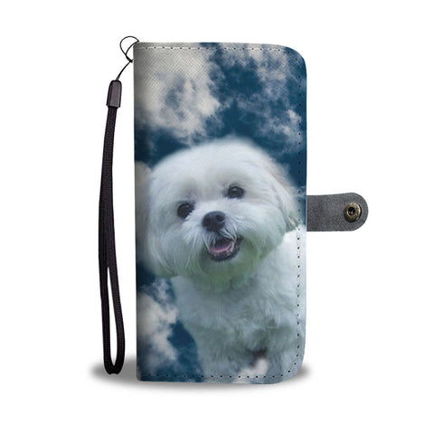 Cute Maltese Dog Print Wallet Case-Free Shipping
