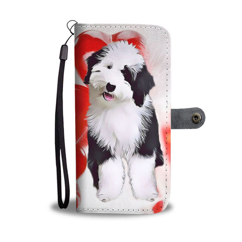Old English Sheepdog Wallet Case- Free Shipping
