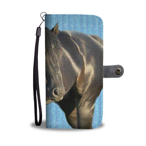 Amazing Thoroughbred Horse Print Wallet Case-Free Shipping
