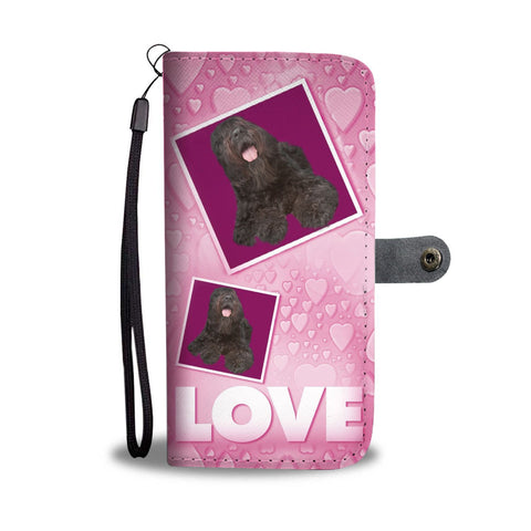 Bouvier des Flandres Dog with Love Print Wallet Case-Free Shipping