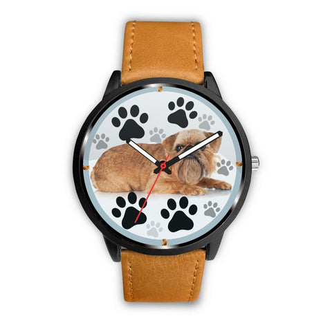 Brussels Griffon Dog Paws Print Wrist watch - Free Shipping