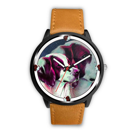 Lovely Brittany Dog Art Print Wrist watch - Free Shipping