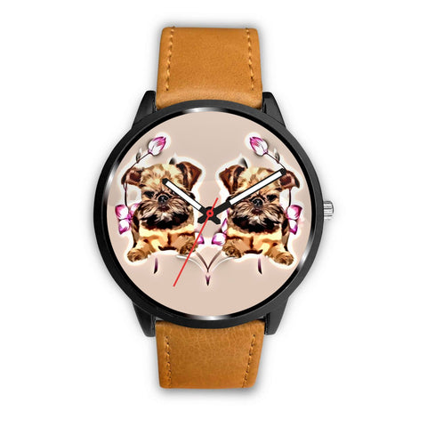 Brussels Griffon Print Wrist Watch-Free Shipping