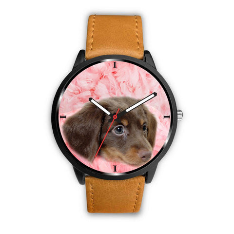 Cute Dachshund Print Wrist Watch - Free Shipping