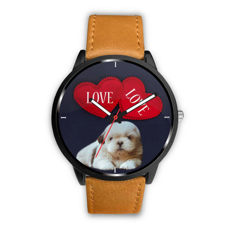 Shih Tzu with Love Print Wrist Watch-Free Shipping