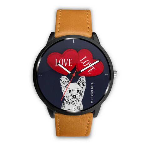 Yorkie with Love Print Wrist Watch-Free Shipping