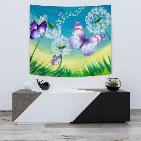 Butterfly Print Tapestry-Free Shipping