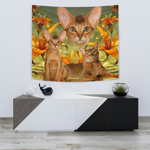Abyssinian Cat Print Tapestry-Free Shipping
