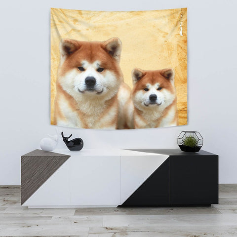 Cute Akita Inu Dog Print Tapestry-Free Shipping