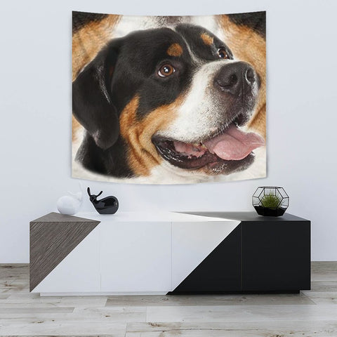 Greater Swiss Mountain Dog Print Tapestry-Free Shipping