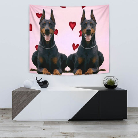 Amazing Doberman Pinscher Print Tapestry-Free Shipping