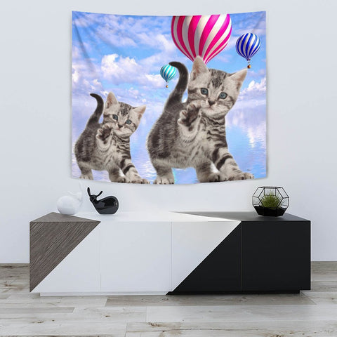 American Shorthair Cat Print Tapestry-Free Shipping