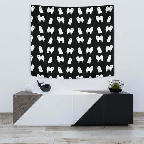 American Eskimo Dog Pattern Print Tapestry-Free Shipping