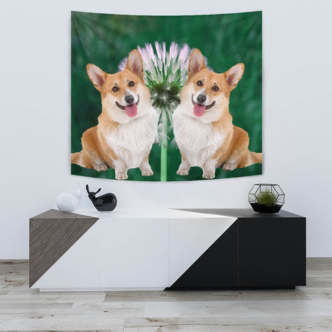 Cardigan Welsh Corgi Dog Print Tapestry-Free Shipping