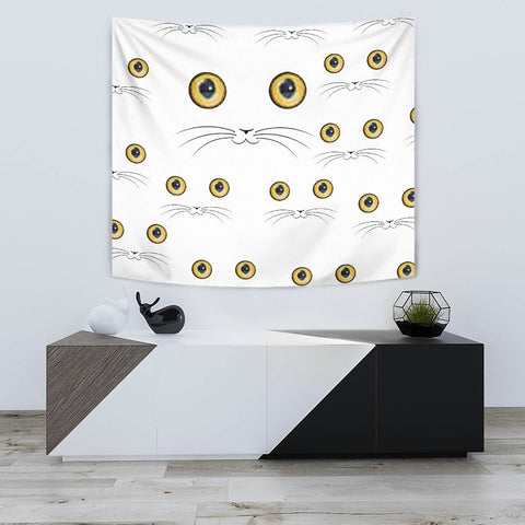 Cute Cat Face Print Tapestry-Free Shipping