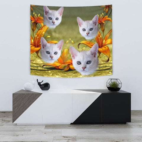 Cute Burmilla Cat Print Tapestry-Free Shipping