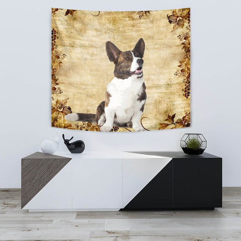 Cute Cardigan Welsh Corgi Dog Print Tapestry-Free Shipping