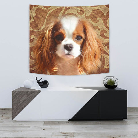 Cavalier King Charles Spaniel Print Tapestry-Free Shipping
