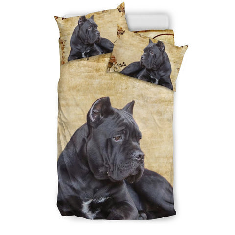 Black Italian Mastiff Print Bedding Set- Free Shipping